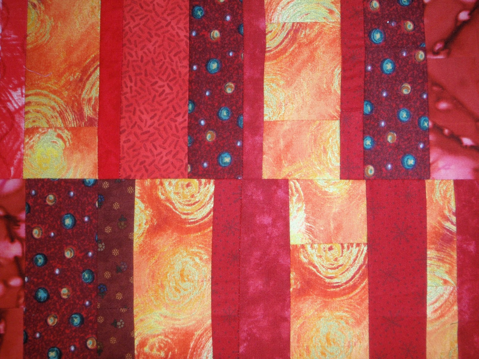 Quilters enjoy color warm and cool color demo for for Cool colors together