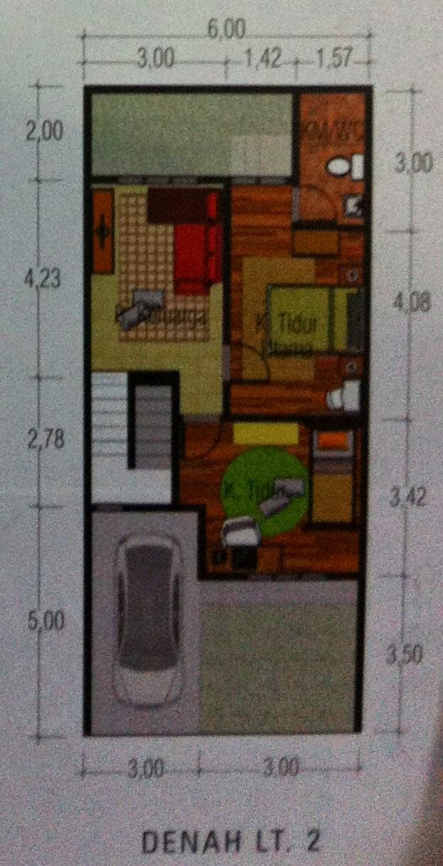 rumah minimalis mozaic lantai 2