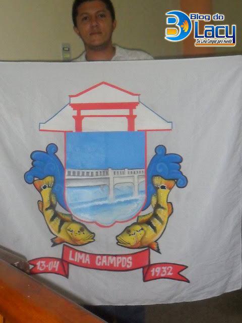 BANDEIRA OFICIAL DE LIMA CAMPOS - CE