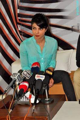 Priyanka Chopra during a Press Meet in Imphal