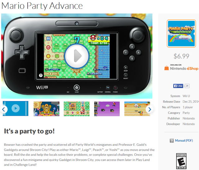 Mario Party Advance Nintendo.com category genre