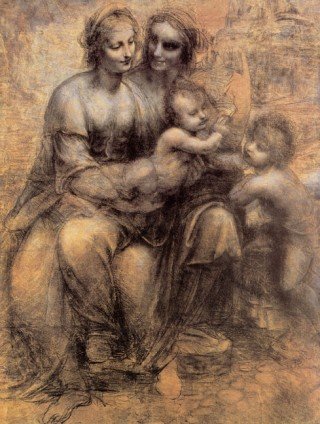 Leonardo da Vinci- Cartoon of the Virgin With Saint Anne