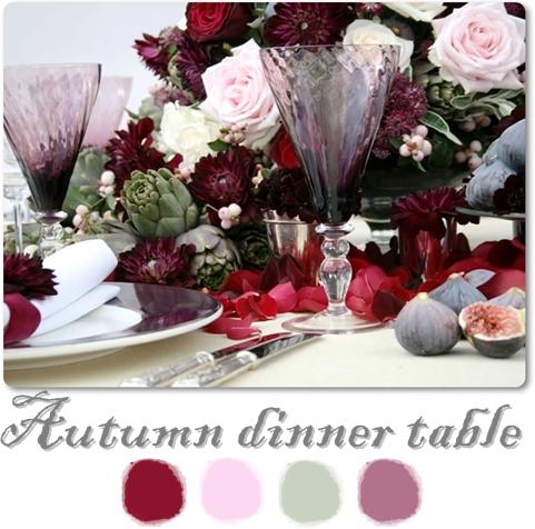 dukning rosa vinröd