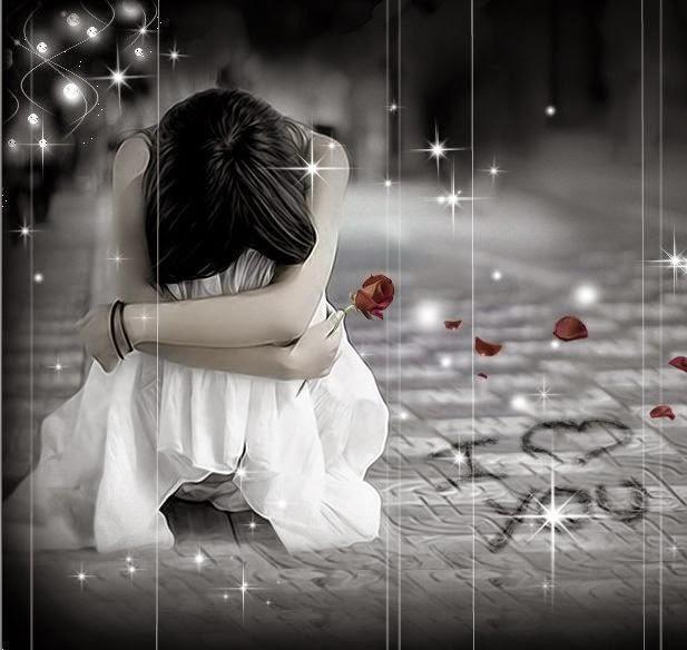 Hình ảnh tâm trạng buồn bã của người con gái