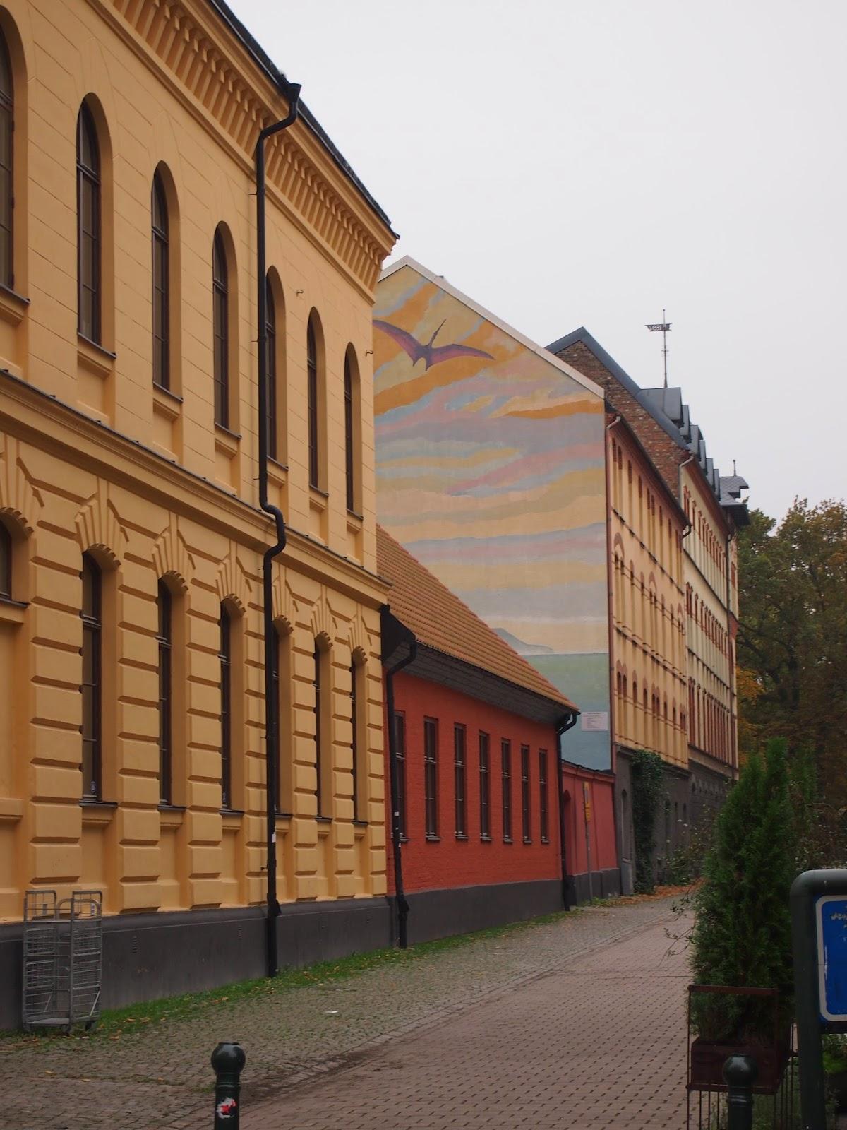 nice pastel street art in Malmo