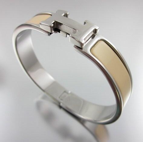 hermes chanel hermes quot gold h quot clic clac enamel bracelet more colors available
