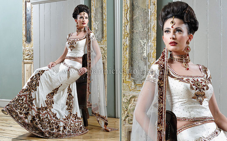 Indian Bridal Wear Uk She Fashions - White Indian Wedding Dress