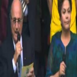 Dilma sendo vaiada na abertura da copa das confederações