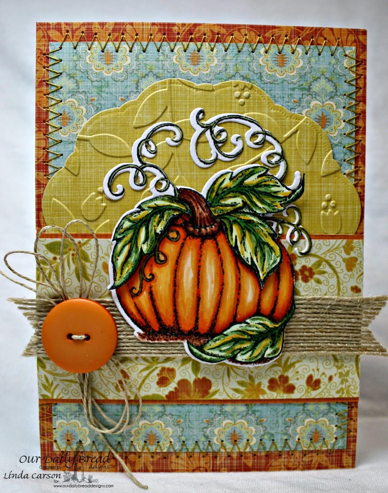 ODBD, Pumpkin, Pumpkin die, Doily die, designer Linda Carson