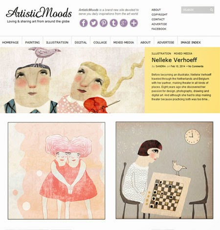 Red Cheeks Factory featured on Art Blog Artistic Moods