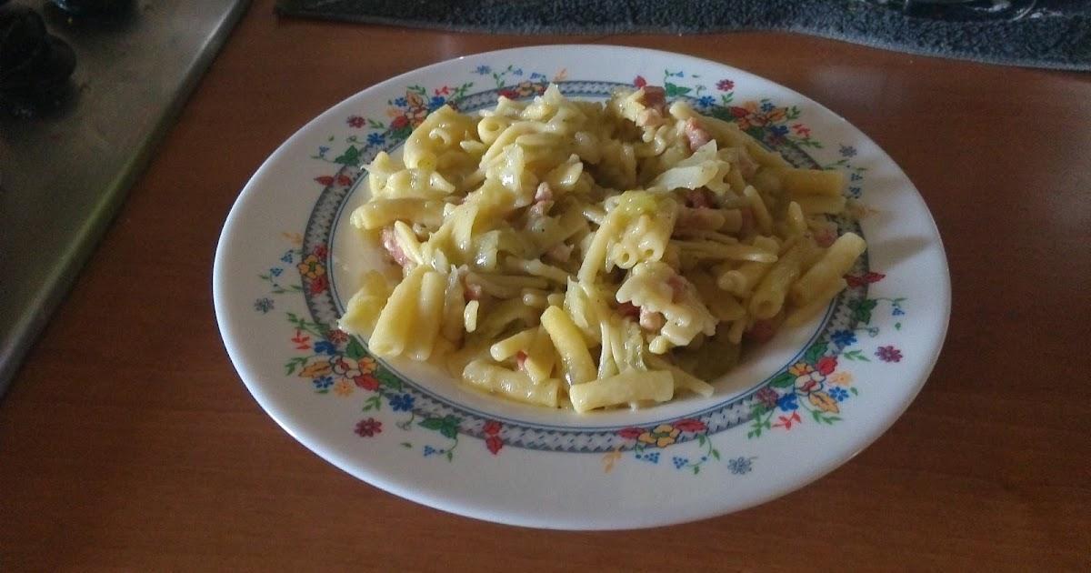 La cucina di gloria pasta mista con cavolo cappuccio e pancetta affumicata - Cucina gloria mercatone uno ...