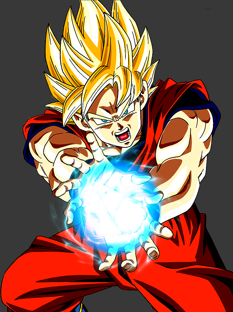 Goku Super Saiyan Render HD Charging Super Kamehameha ... | 767 x 1024 png 566kB