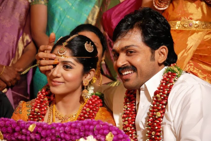 Karthik with wife Ranjani