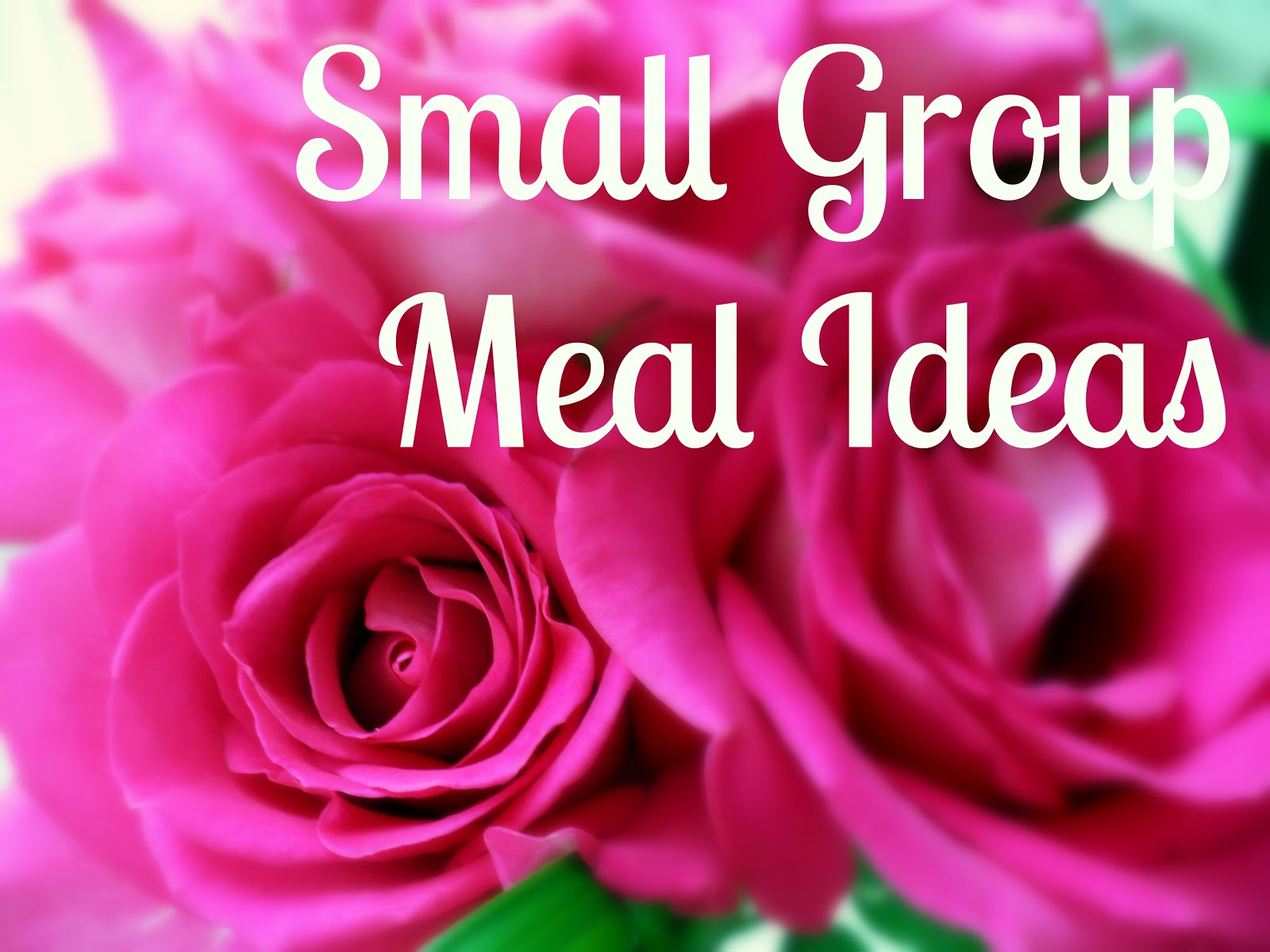small group meal ideas