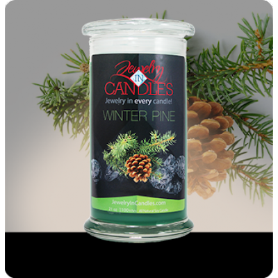 winter pine candles