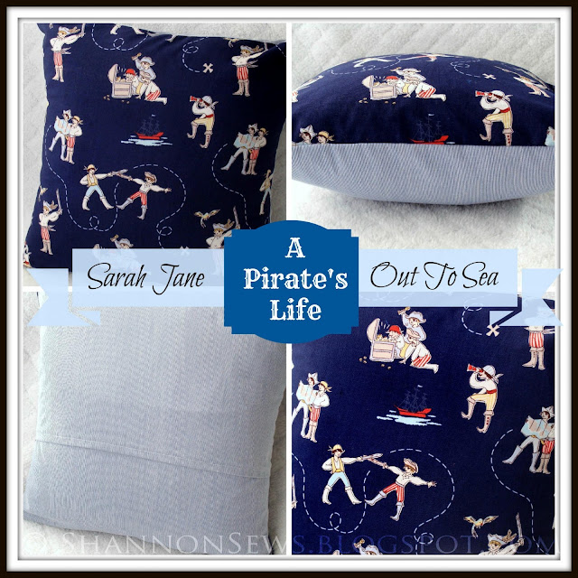 Baby shower gift idea: Pirates Life Pillow nursery decor