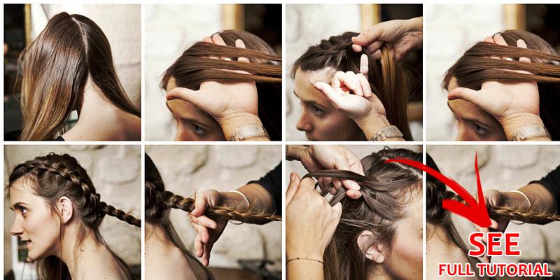 Low Braided Bun Hairstyle Step By Step B G Fashion