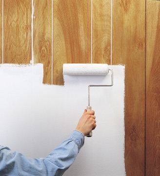 Twine how to update a 70 39 s bathroom Can you paint wood paneling