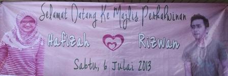 Majlis Perkahwinan Pra Ramadhan