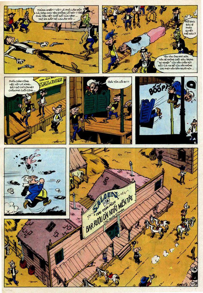 TruyenHay.Com - Ảnh 37 - Lucky Luke Tập 25 - Nhện Chân Dài
