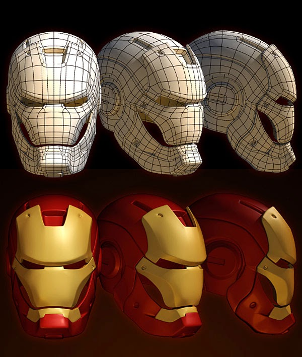 Iron Man Mark III Helmet Wireframe