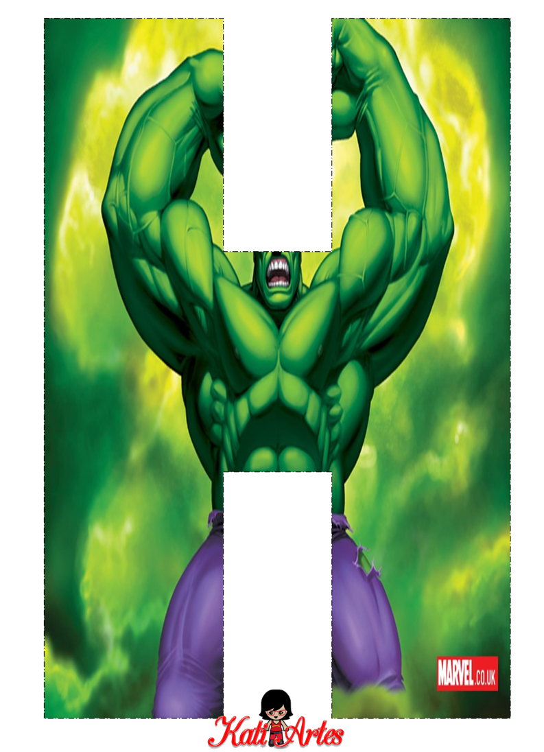 Alfabeto Gratis De Hulk Oh My Alfabetos