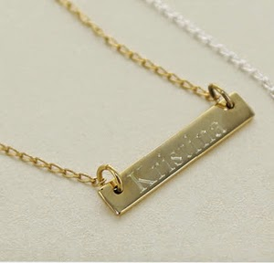 Personalized Gold Bar Necklace from EmilyRoseJewellery
