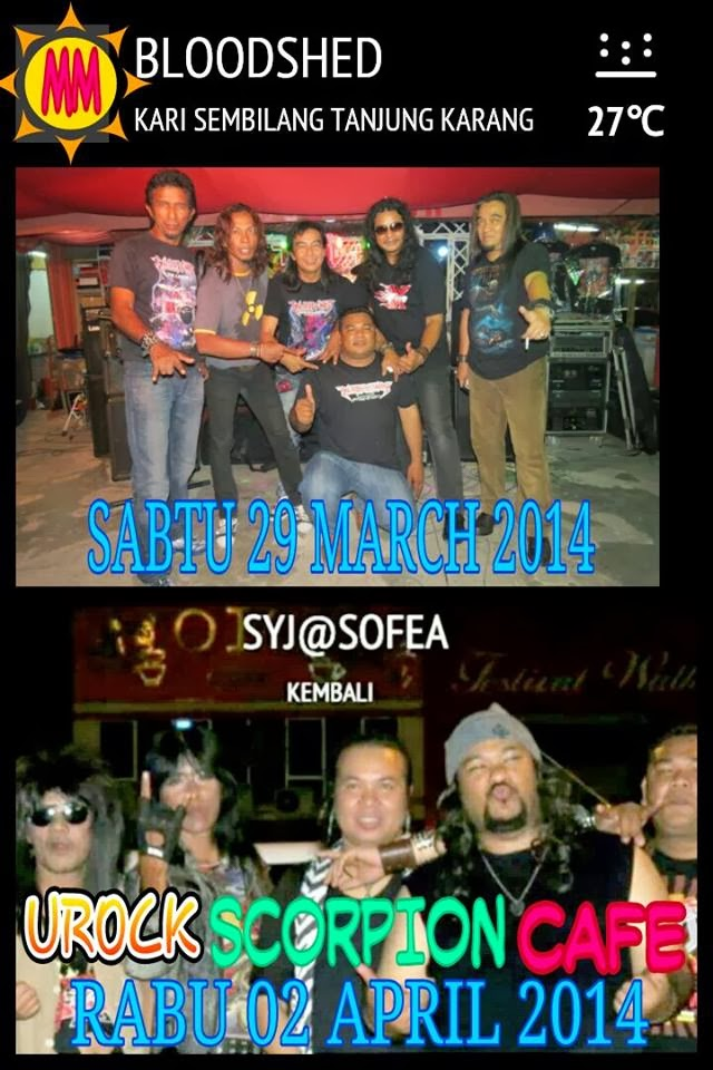 Event Bloodshed Kari Sembilang dan SYJ Urock Scorpion Cafe