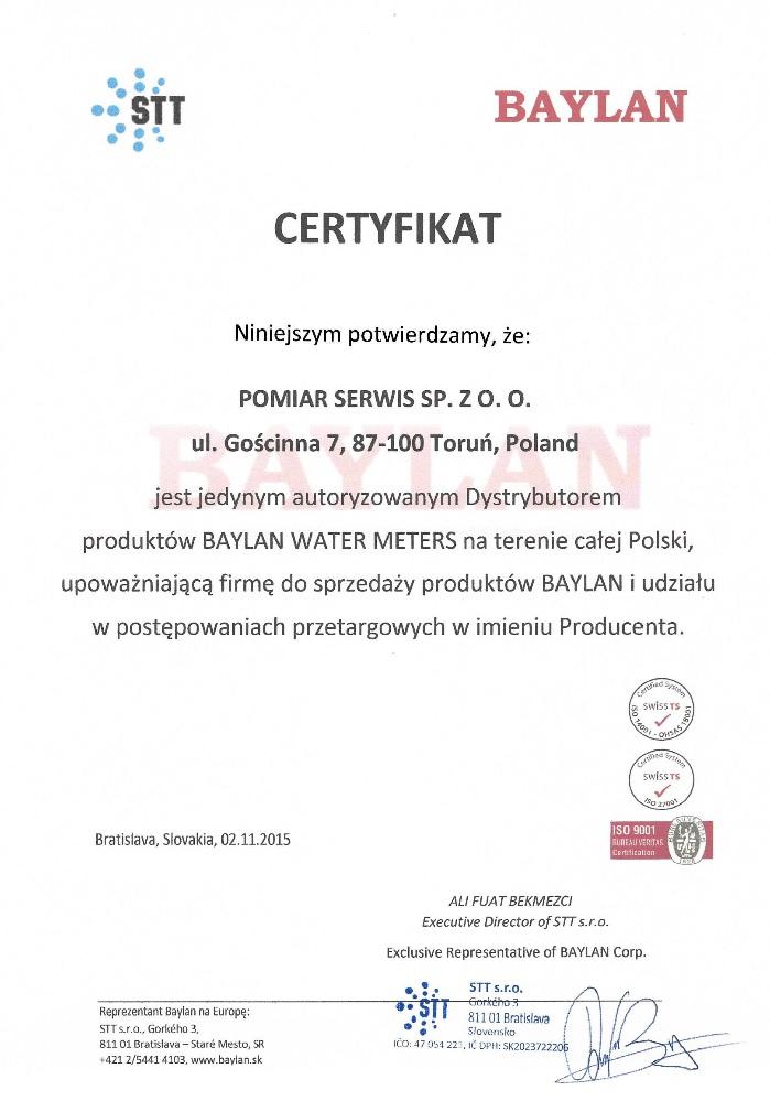 Jedyny Przedstawiciel Baylan w Polsce