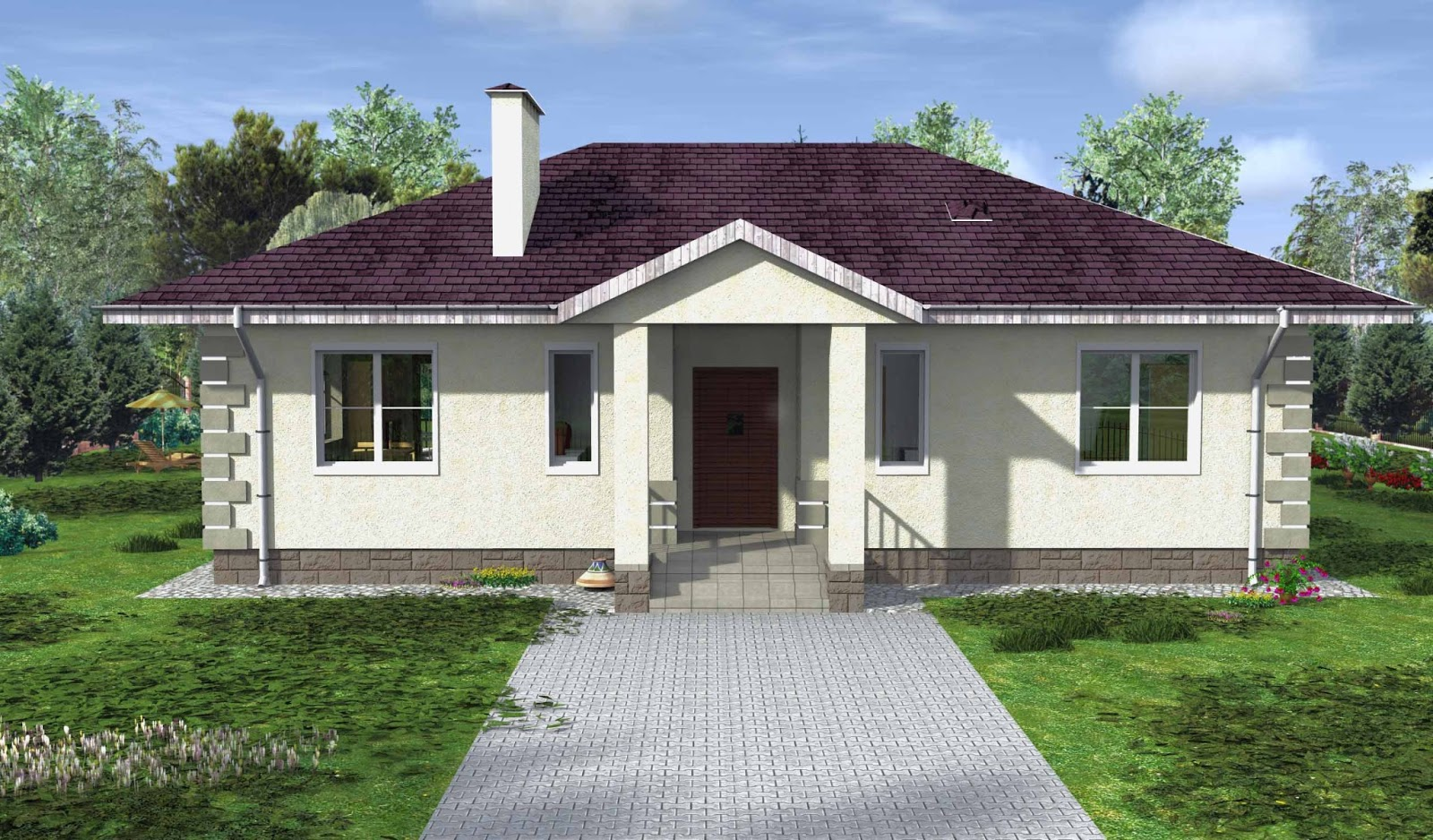 Проект дома пеноблоков