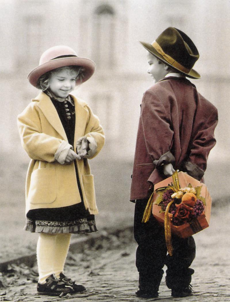 Ретро фото с ребенком