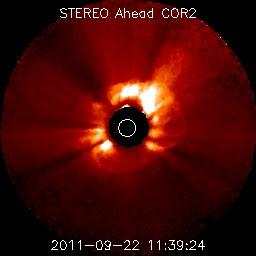 llamarada solar clase X - 22 de septiembre 2011
