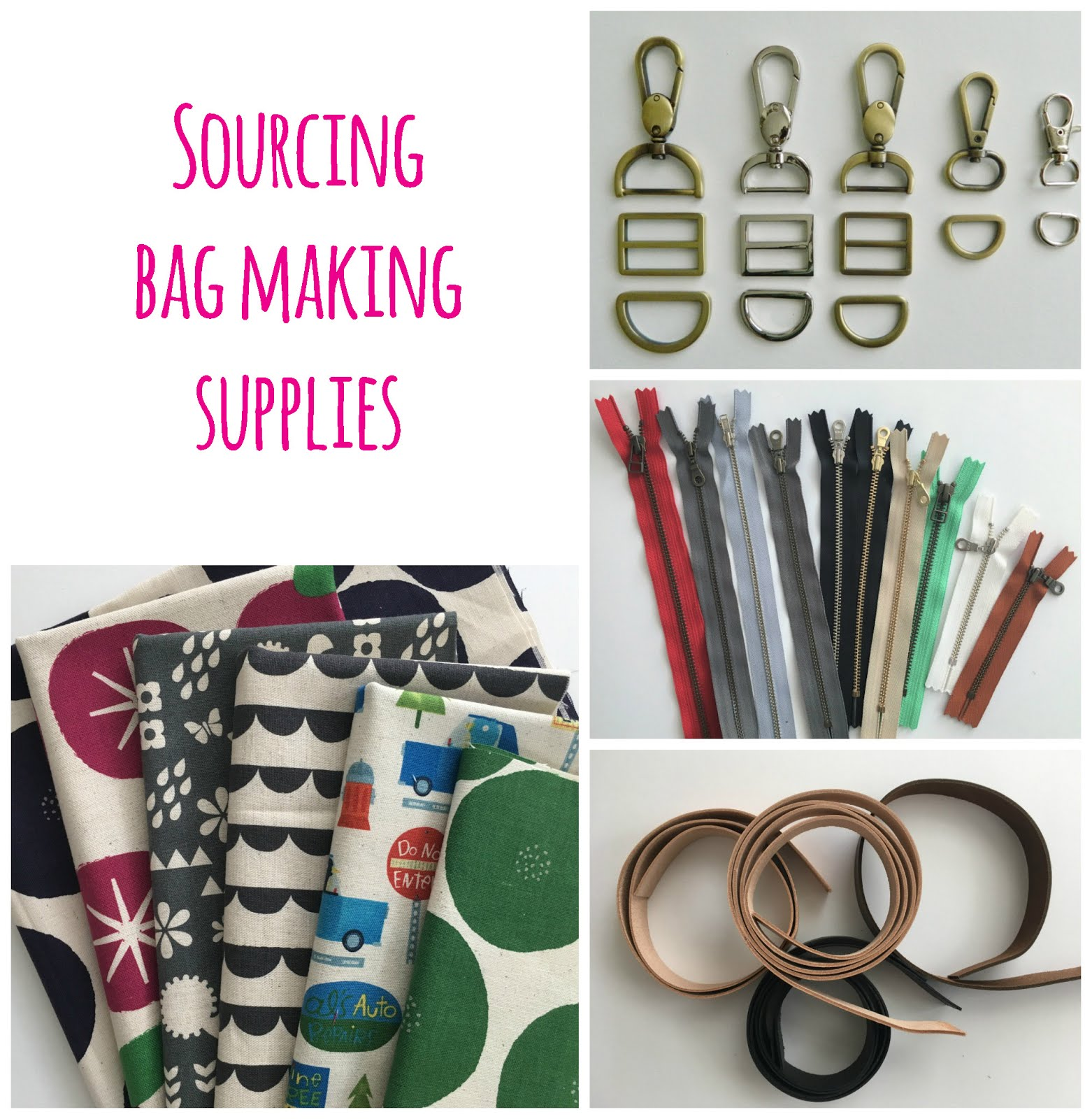 buying bag making supplies