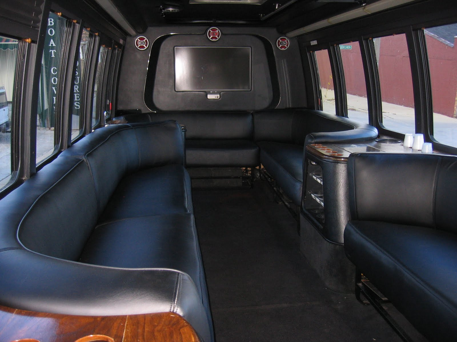 Homestyle custom upholstery and awning limo bus interior Tour bus interior design