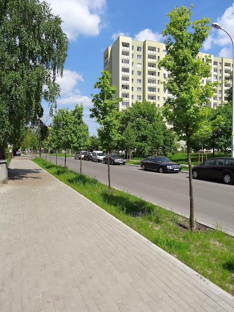 Ulica Tarnowiecka latem