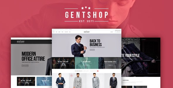 mens shop ecommerce template