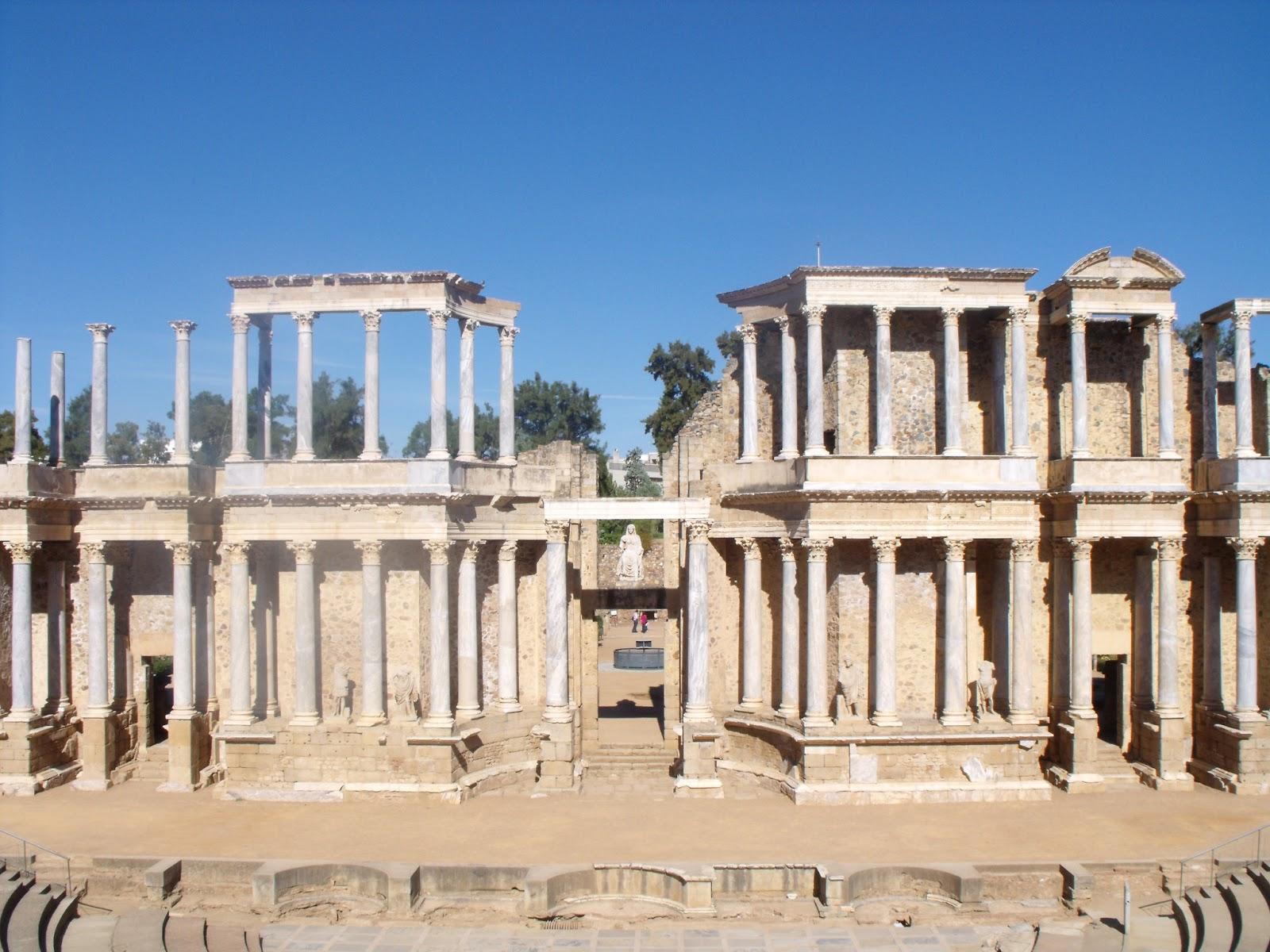 Baños Roma Teatro Linea De Sombra:teatro romano de mérida teatro romano de mérida trujillo un