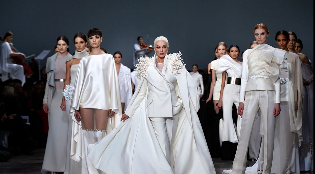 81-year-old Carmen walks the runway in Paris