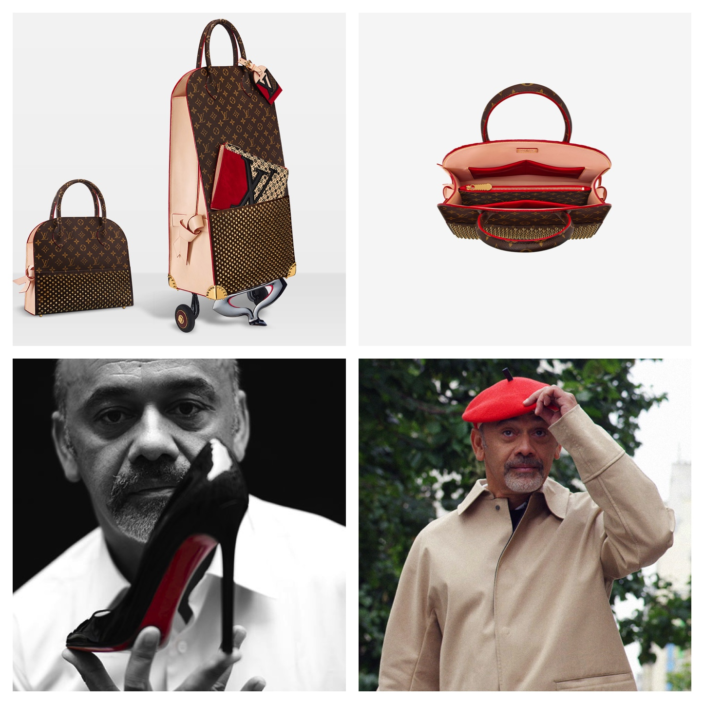 Louis Vuitton and Christian Louboutin Celebrates the LV Monogram
