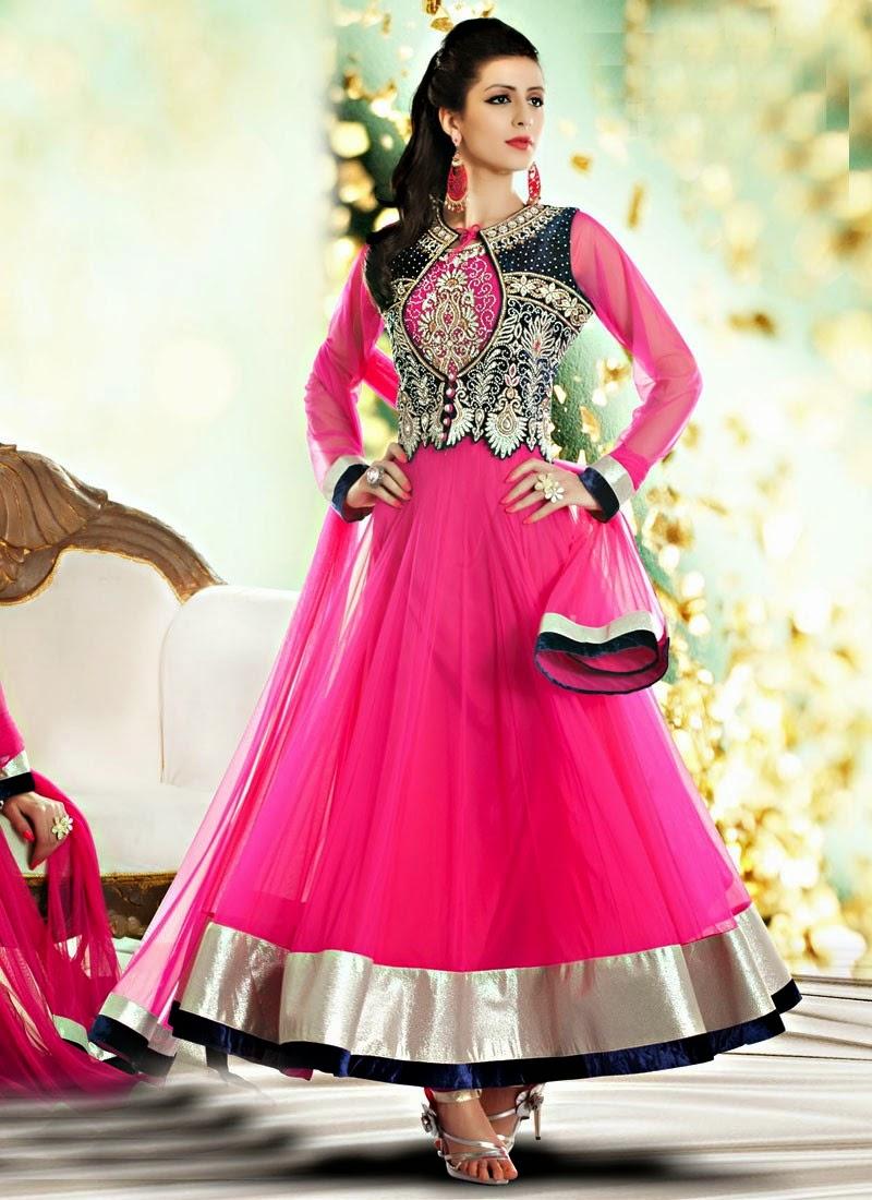 Indian Royal Wedding Wear Long Anarkali Dresses 2014 Collection