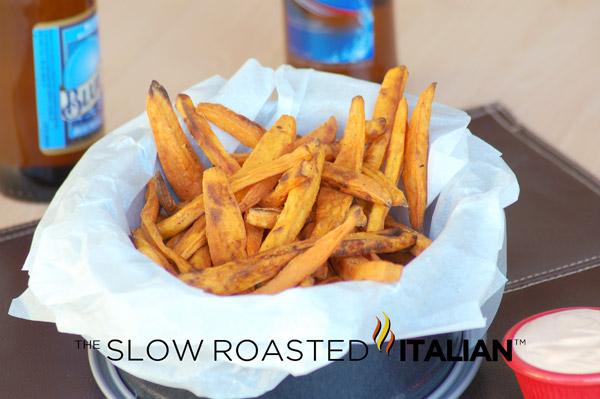 Crispy Sweet Potato Fries with Spicy Fry Sauce