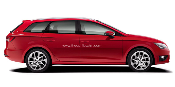 2013 seat leon st rendering by theophillus chin garage car. Black Bedroom Furniture Sets. Home Design Ideas