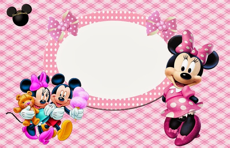 Minnie Mouse in Pink: Free Printable Invitations, Labels or Cards ...