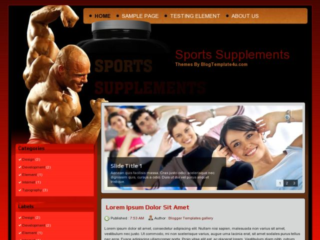Sports Supplements Blogger Template