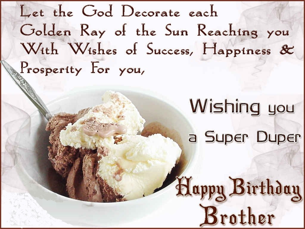 Birthday wishes for Brother Happy Birthday wishes for brother – Birthday Card for My Brother