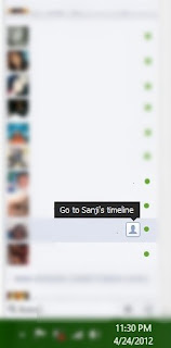 Facebook Chat go to Timeline