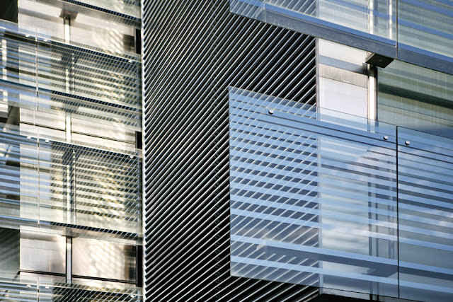 Glass facade detail