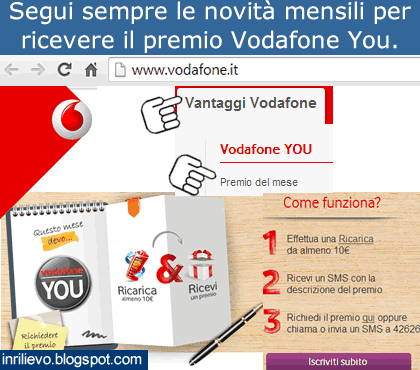 vodafone you premio mese
