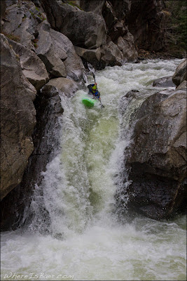 Reece Hanson finding his stroke on Entrance Falls, Chris Baer,  Vallecito, water fall, co , colorado