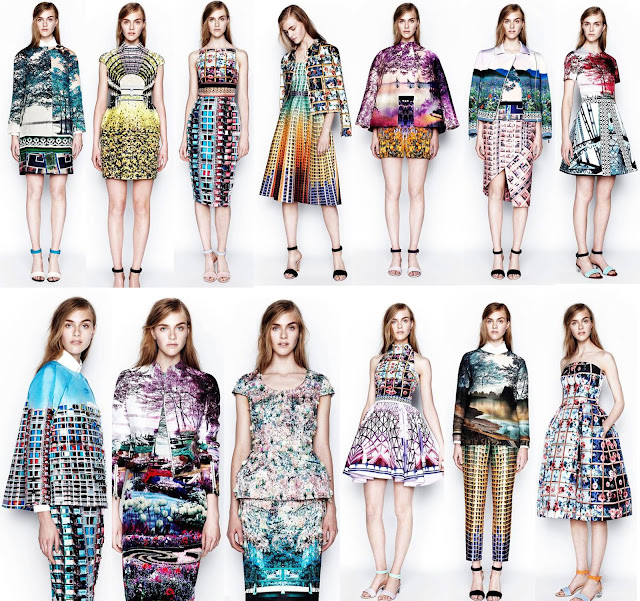 Mary Katrantzou, SS14, floral, flowers, print, digital print, brightly coloured, British design, resort, collection